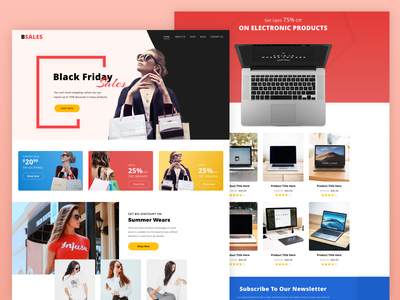Bsales - A premium landing page template promotions black friday sale deal page sales page cyber monday black friday wordpress elementor business landing page one page template responsive creative landing page homepage landing page