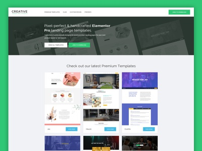 CLP New Site pro template creative landing page modern design homepage elementor landing page creative