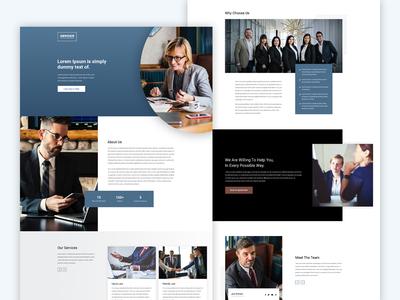 Adviser -  A premium landing page template