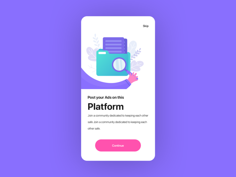Onboarding Screen : #Daily UI 001 graphics design ux ui search app illustration minimal cool design color cards e-commerce onboarding ui walkthrough onboarding