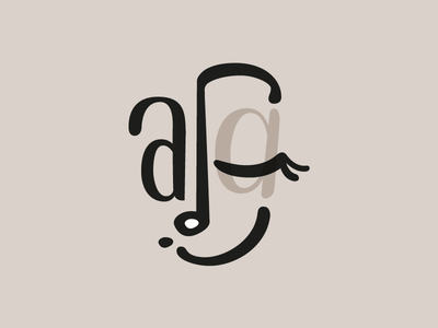 Smiling logo relax nice wink ada smile music note face