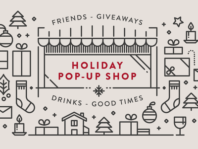 Holiday pop-up shop merrychristmas