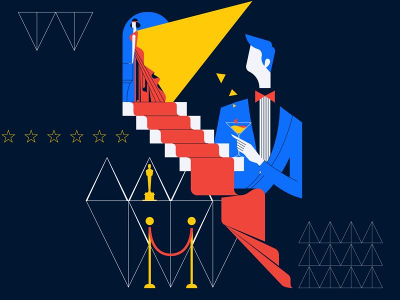 Oscar and love illustration vector