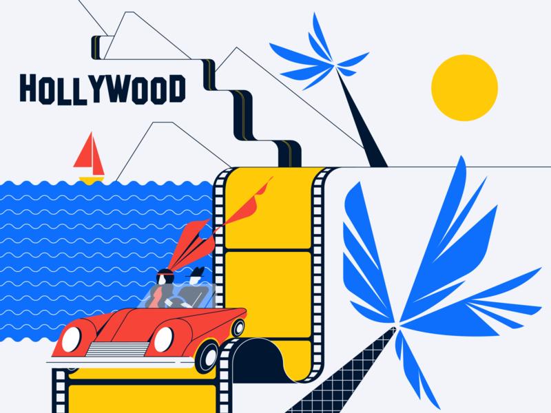 Hollywood illustration vector