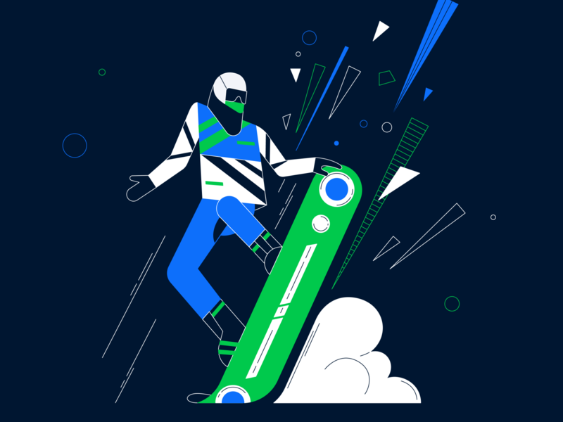 Snowboard illustration vector