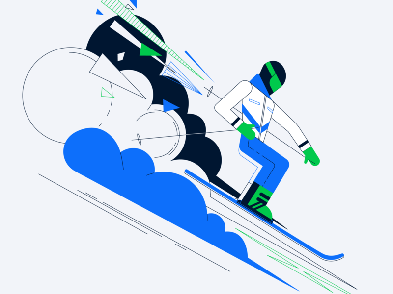 Ski illustration vector
