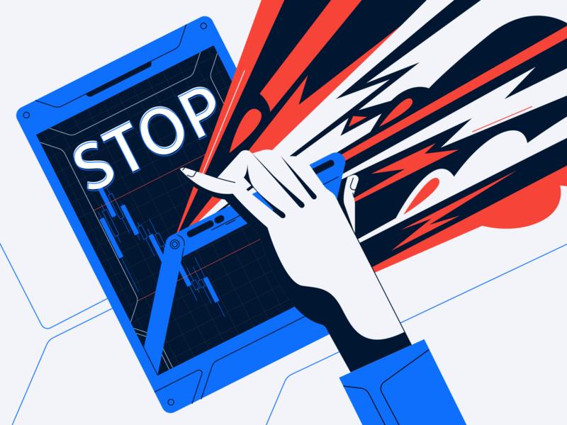 Stop loss illustration vector