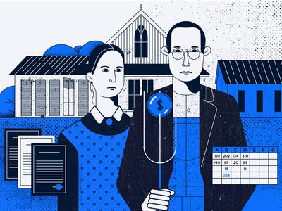 Financial Gothic illustration vector