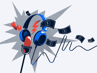 Podcasts about money vector illustration