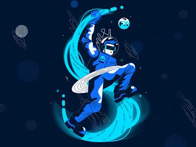FX stardust vector illustration