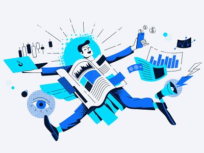 Trading news vector illustration