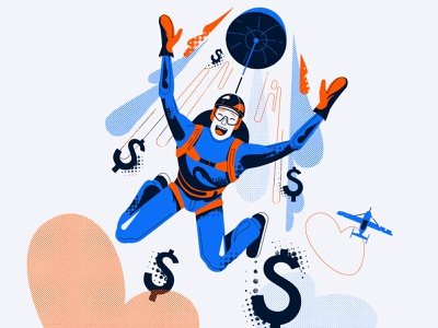 Parachute vector illustration