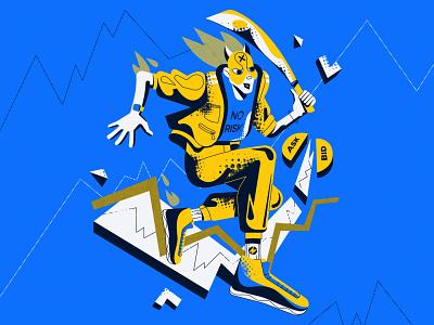 Trader-Ninja vector illustration