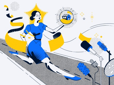Woman in trading vector illustration