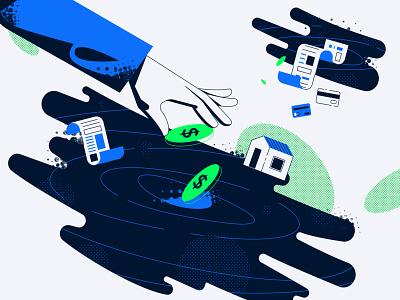 Budgeting vector illustration
