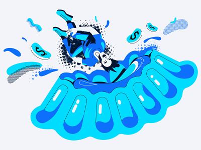 Safe investing vector illustration