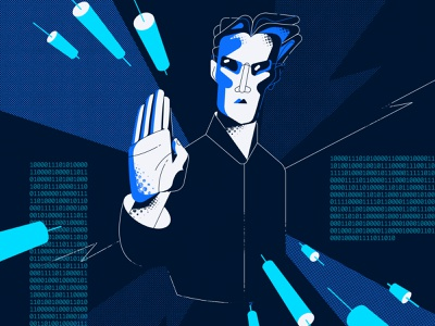 Inspired by the Matrix vector illustration