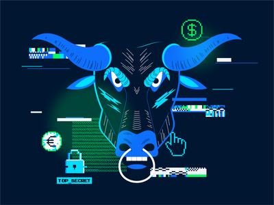 Bull illustration vector