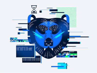 Bear illustration vector