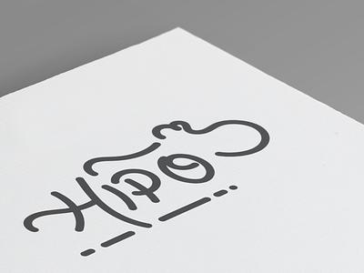 Hipo typography handwritten handtype calligraphy hipo hippo