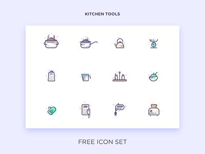 Kitchen Tools grater toaster kitchen glove saucepan icon set free icon line tools kitchen