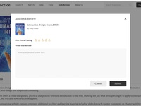 Adding Book Review - Pop Up