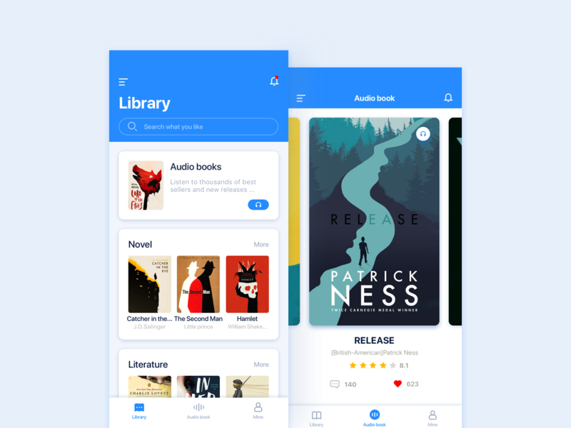 Library App by Cstars on Dribbble