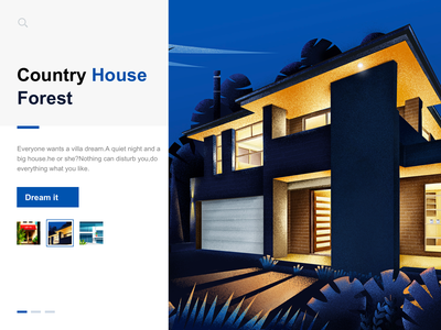 Country housde house design illustration