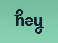 """hey"" Ambigram"