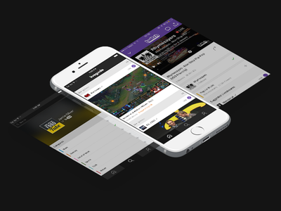 Liveguide UI noclip gaming app ux ui user experience user interface iphone ios livestreaming liveguide