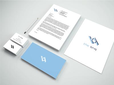 'the briq' logo - showcase tech symmetry office space office mc escher logo coworking