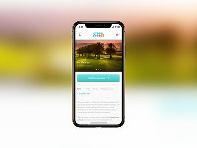 Greenfee365 ux golfing golf club desktop mobile webapp golf