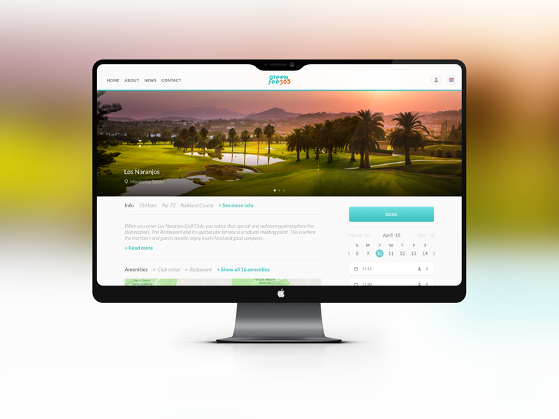 Greenfee365 ux golfing golf club desktop mobile webapp golf