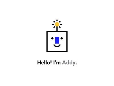 Addy illustration rebranding branding ads mascot robot addy zentrick