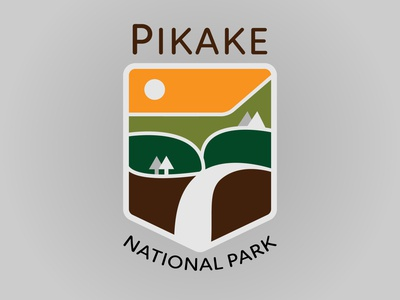 Pikake National Park daily logo challenge design vector dailylogochallenge logo concept logo design typography illustrator graphic design