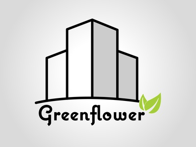 Greenflower city design daily logo challenge dailylogochallenge typography logo logo concept logo design illustrator graphic design