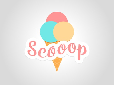 Scooop cute illustrator vector daily logo challenge dailylogochallenge logo logo concept logo design graphic design