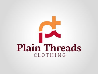 Plain Threads vector design daily logo challenge dailylogochallenge logo logo concept logo design illustrator graphic design