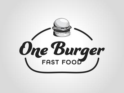 One Burger daily logo challenge dailylogochallenge logo typography logo concept logo design graphic design