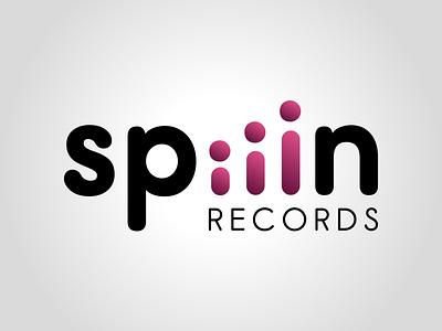 Spiiin Records gradient vector daily logo challenge dailylogochallenge typography logo logo concept logo design illustrator graphic design