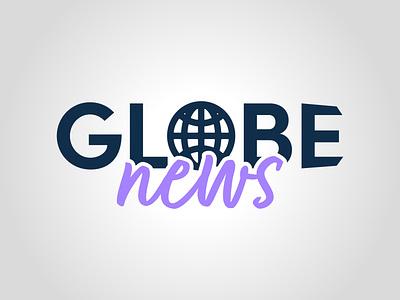 Globe News graphism vector daily logo challenge dailylogochallenge typography logo logo concept logo design graphic design