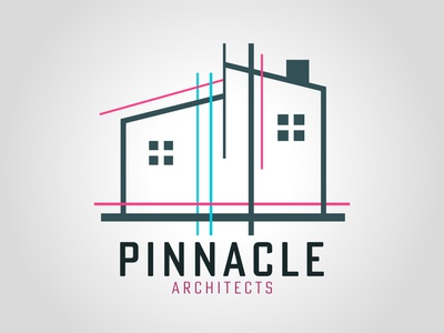 Pinnacle illustration vector dailylogochallenge daily logo challenge illustrator typography logo logo concept logo design graphic design