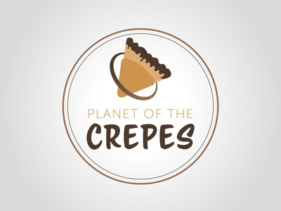 Planet of the crepes graphism vector illustration typography daily logo challenge dailylogochallenge logo logo concept logo design graphic design