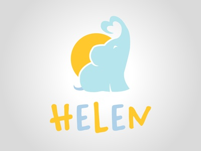 Helen adorable typography design graphic design craw clothes bloom baby daily logo challenge dailylogochallenge logo logo concept logo design
