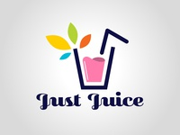 Just Juice graphism design daily logo challenge dailylogochallenge typography logo logo concept logo design graphic design
