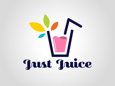 Just Juice graphism design daily logo challenge dailylogochallenge typography logo logo concept logo design graphic design