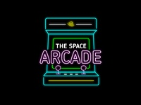 The Space Arcade branding vector illustrator typography daily logo challenge dailylogochallenge logo logo concept logo design graphic design