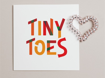 Tiny Toes children fashion tiny toes typography illustrator logo logo concept logo design graphic design