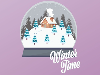 Illustration - Snow Globe wintertime winter snow snow globe vector design illustration illustrator graphic design
