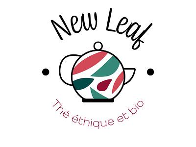 New Leaf - Tea logo cute vector design typography logo illustrator logo concept logo design graphic design